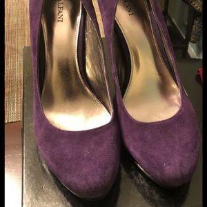 Alfani Purple suede pumps- Size 10